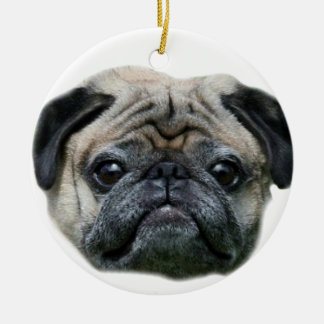 Pug dog ornamnet ceramic ornament