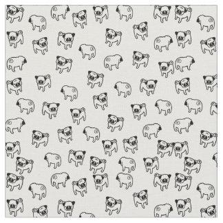 Pug dog pattern fabric