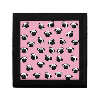 Pug dog pattern gift box