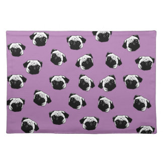 Pug dog pattern placemat