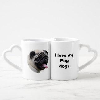 Pug dog pet photo portrait couple mugs