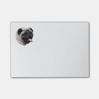 Pug dog pet photo portrait post-it® notes