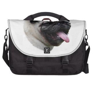 Pug dog photo portrait bag for laptop
