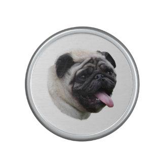 Pug dog photo portrait bluetooth speaker
