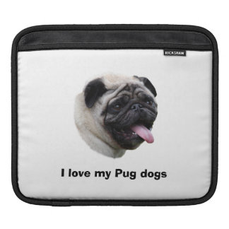 Pug dog photo portrait sleeve for iPads