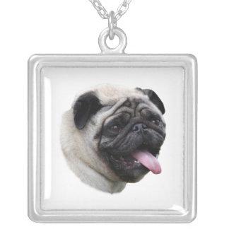 Pug dog photo portrait necklaces