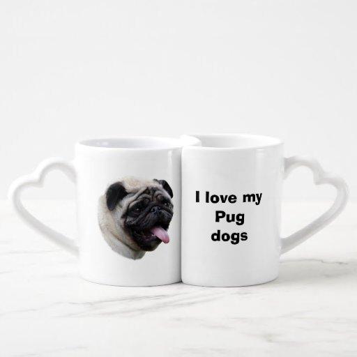 Pug dog photo portrait couple mugs