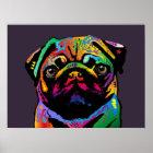 Pug Dog Poster