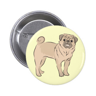 PUG dog standing alone cute Button