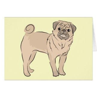 PUG dog standing alone cute! Card