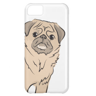 PUG dog standing alone cute! Case For iPhone 5C