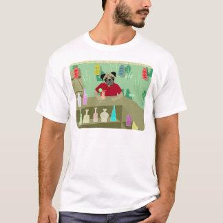 Pug Dog Tiki Bar T-Shirt