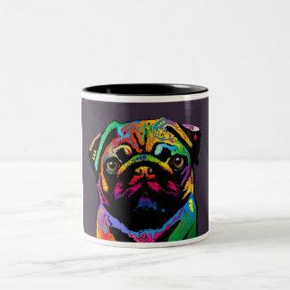 Pug Dog Two-Tone Mug