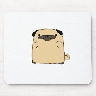 Pug Double Bird Mouse Pad