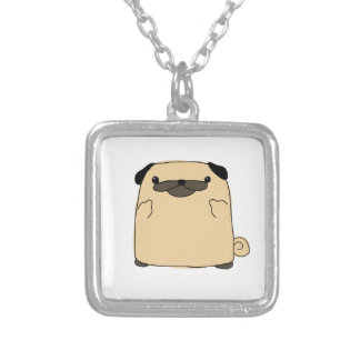 Pug Double Bird Silver Plated Necklace