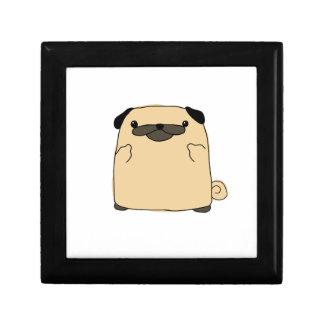 Pug Double Bird Small Square Gift Box