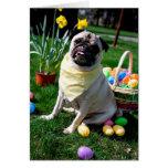 Pug Easter Greeting Card