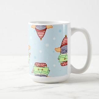 Pug Elf Christmas Drinkware Coffee Mug