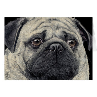 "Pug Face Card - ""Pugshot"""