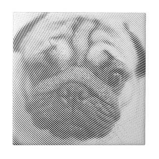 Pug Face Ceramic Tile
