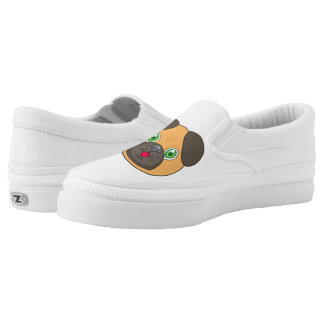 Pug Face character Printed Shoes
