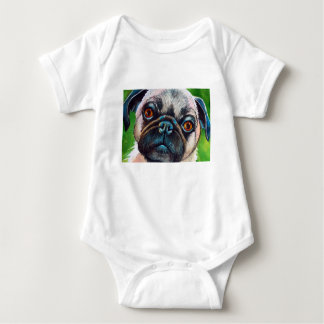 Pug Face Close up Baby Bodysuit