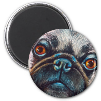 Pug Face Close up Magnet
