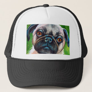 Pug Face Close up Trucker Hat
