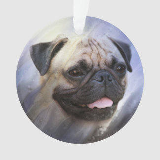 Pug face ornament