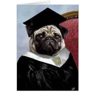 Pug family graduation card
