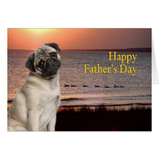 Pug Father s Day Card