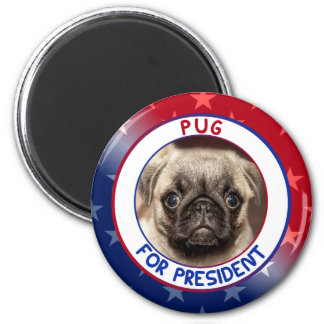 PUG FOR PRESIDENT MAGNET