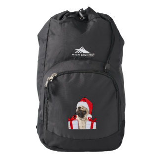 Pug gifts - dog claus - funny pugs - funny dogs backpack