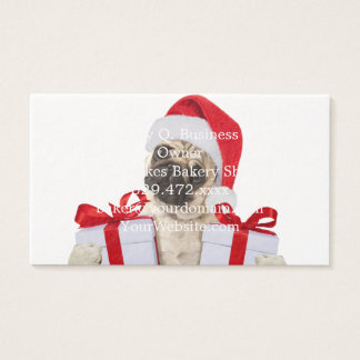 Pug gifts - dog claus - funny pugs - funny dogs business card