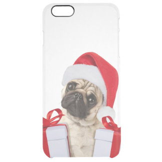 Pug gifts - dog claus - funny pugs - funny dogs clear iPhone 6 plus case