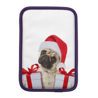 Pug gifts - dog claus - funny pugs - funny dogs iPad mini sleeve