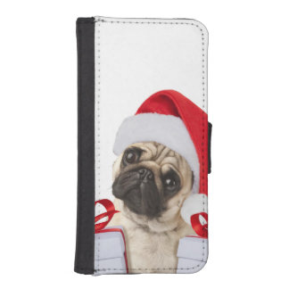 Pug gifts - dog claus - funny pugs - funny dogs iPhone SE/5/5s wallet case