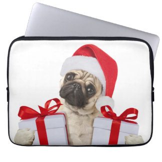 Pug gifts - dog claus - funny pugs - funny dogs laptop sleeve