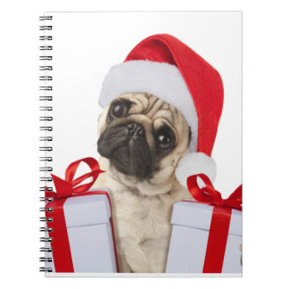 Pug gifts - dog claus - funny pugs - funny dogs notebook