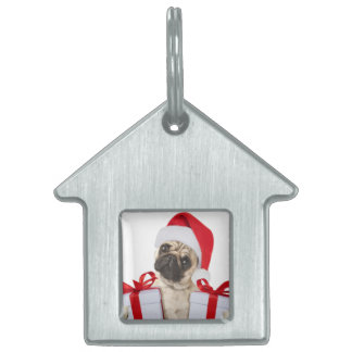 Pug gifts - dog claus - funny pugs - funny dogs pet tag