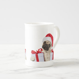 Pug gifts - dog claus - funny pugs - funny dogs tea cup