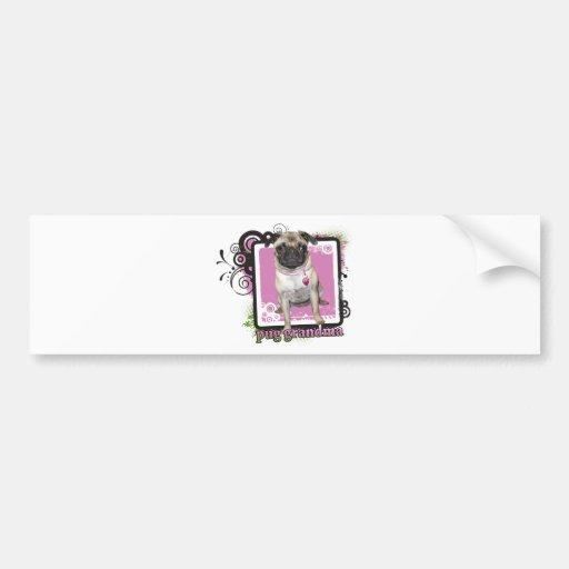 Pug Grandma Bumper Sticker