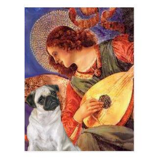 Pug H (Fawn) - Mandolin Angel Postcard