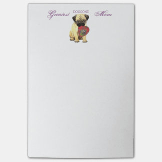 Pug Heart Mom Post-it® Notes