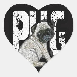 Pug Heart Sticker