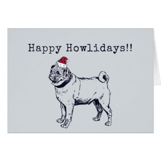 Pug Holiday Card