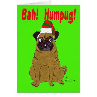 Pug Holiday Greeting Card