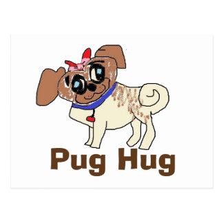 Pug Hug Postcard