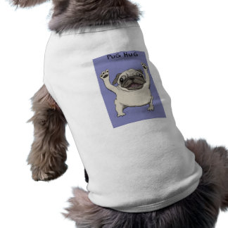 Pug Hug Sleeveless Dog Shirt