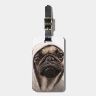 Pug In A Hoodie Luggage Tag